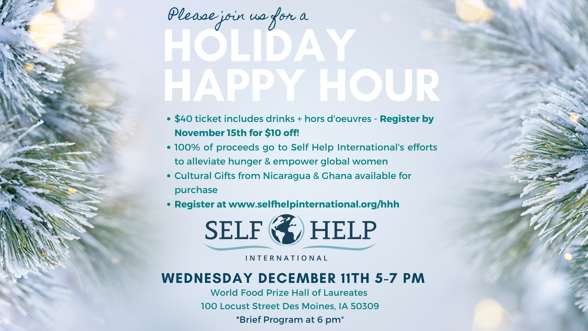 Holiday Happy Hour Registration Open